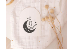 Floral Moon, Celestial Moon Graphic Illustrations By MySpaceGarden 5