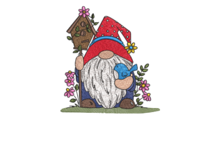 Gnome North America Embroidery Design By Top Digitizing