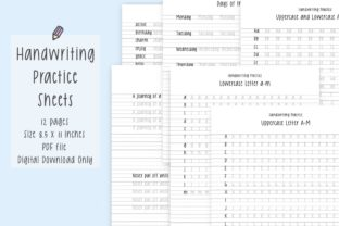 Handwriting Worksheets 1 Graphic Print Templates By Jyllyco