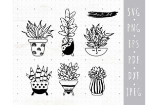 Houseplants, Potted Plants Graphic Illustrations By MySpaceGarden
