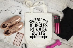 Installing Muscles Please Wait Graphic Print Templates By designstore