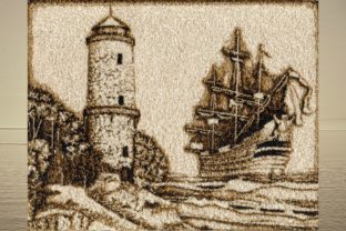 Lighthouse and Sailboat Travel & Season Embroidery Design By Beautiful Embroidery