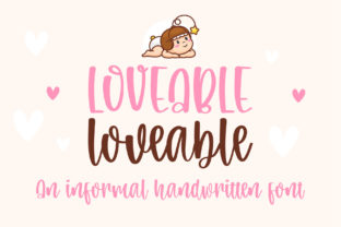 Print on Demand: Loveable Script & Handwritten Font By BitongType 1
