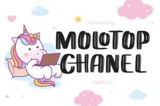 Print on Demand: Molotop Chanel Display Font By Alit Design 1