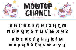 Print on Demand: Molotop Chanel Display Font By Alit Design 14