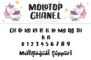 Print on Demand: Molotop Chanel Display Font By Alit Design 15