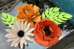 Paper Flower SVG and DXF Bundle 1 Graphic 3D Flowers By Canada Crafts Studio