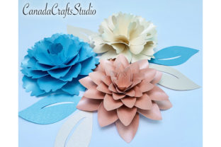 Paper Flowers 3 Flowers Bundle 5 Graphic 3D Flowers By Canada Crafts Studio