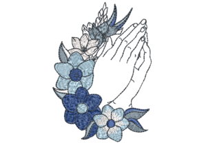 Praying Hands Holidays & Celebrations Embroidery Design By Canada Crafts Studio