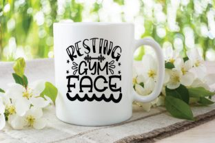 Resting Gym Face Graphic Print Templates By designstore