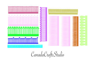 SVG Fringes for Paper Flower Center Graphic 3D Flowers By Canada Crafts Studio