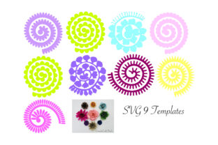 Rolled Paper Flower Templates Graphic 3D Flowers By Canada Crafts Studio