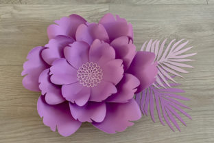 Paper Flower Template Graphic 3D Flowers By Canada Crafts Studio