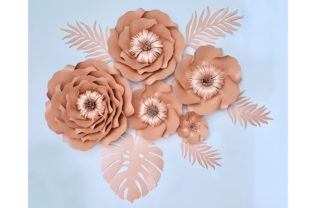 Paper Flower Templates Graphic 3D Flowers By Canada Crafts Studio
