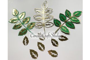 SVG/DXF Skeleton Leaf Template Graphic 3D Flowers By Canada Crafts Studio