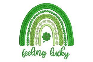 Print on Demand: St Patrick's Day Rainbow St Patrick's Day Embroidery Design By ArtEMByNatali