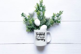 Travel is My Therapy Graphic Print Templates By designstore