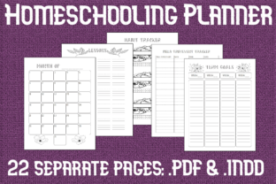 Print on Demand: Undated Editable Homeschool Planner Graphic KDP Interiors By Mary's Designs