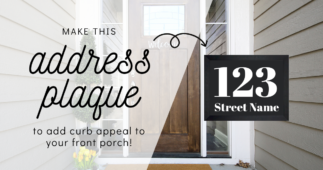 Make Numbered Address Signs For Your Home With Cricut