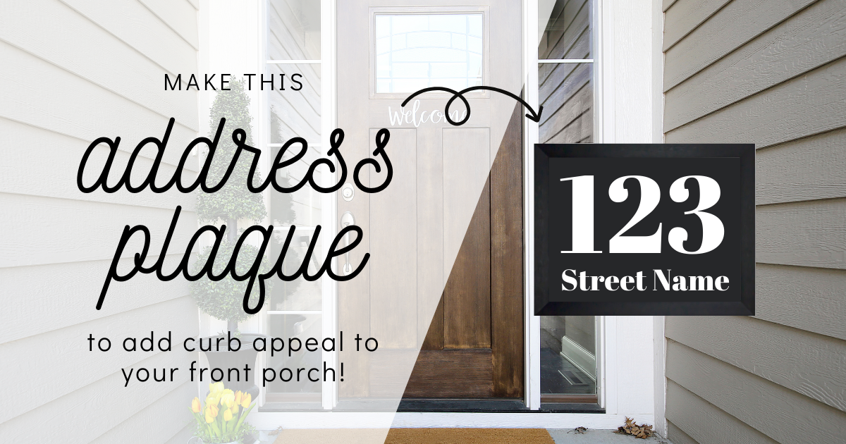 Make Numbered Address Signs For Your Home With Cricut main article image
