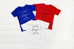 4th of July Themed Group Shirt Mockup Graphic Product Mockups By SlyDesignStudio