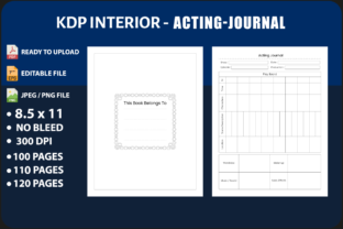 Acting Journal Graphic KDP Interiors By triggeredit
