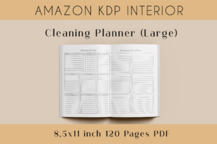 Print on Demand: Cleaning Planner Large • KDP Interior Graphic KDP Interiors By Lemon Downloads