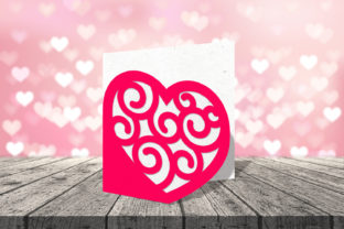 Heart with Swirls Papercut Card SVG Graphic Crafts By RisaRocksIt