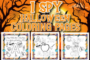 Print on Demand: I Spy Halloween Coloring Pages Graphic Coloring Pages & Books Kids By Creative Color Desigen