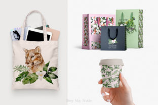 Print on Demand: Modern Watercolor Rainforest Collection Graphic Illustrations By Busy May Studio 10