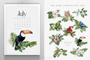 Print on Demand: Modern Watercolor Rainforest Collection Graphic Illustrations By Busy May Studio 6