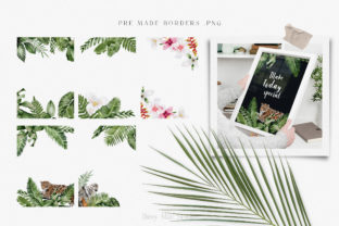 Print on Demand: Modern Watercolor Rainforest Collection Graphic Illustrations By Busy May Studio 7