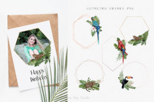 Print on Demand: Modern Watercolor Rainforest Collection Graphic Illustrations By Busy May Studio 8