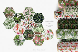 Print on Demand: Modern Watercolor Rainforest Collection Graphic Illustrations By Busy May Studio 9