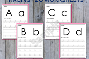 26 Alphabet Tracing Workseets Graphic PreK By WorksheetsWithFun