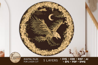 Print on Demand: Eagle - 4th of JULY Multilayer Cut Files Graphic 3D SVG By LaserCutano