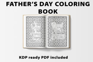 Print on Demand: Father's Day Quotes Coloring Book Graphic KDP Interiors By bengalcanvas