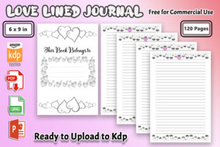 Love Lined Journal - Kdp Notebook Graphic KDP Interiors By ishop
