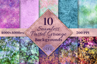 Print on Demand: Seamless Pastel Grunge Backgrounds Graphic Backgrounds By SapphireXDesigns