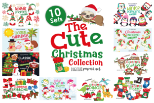 Print on Demand: The Cute Christmas Collection Graphic Illustrations By DigitalPapers 1