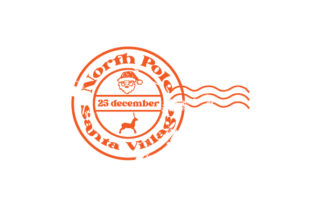 Vintage North Pole Stamp Christmas Craft Cut File By Creative Fabrica Crafts