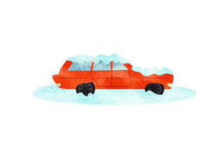 Station Wagon Covered in Snow Winter Craft Cut File By Creative Fabrica Crafts