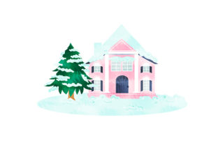 House Covered in Snow Winter Craft Cut File By Creative Fabrica Crafts