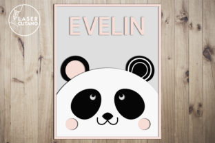 Print on Demand: BABY NAME SIGN Bundle Laser Cut Files Graphic 3D SVG By LaserCutano 10