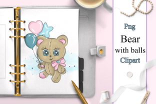 Print on Demand: Baby Animals Clipart. Bear Clipart Graphic Illustrations By LerVik