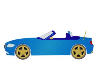 Print on Demand: Cabrio Fast Car Travel & Season Embroidery Design By embroidery dp