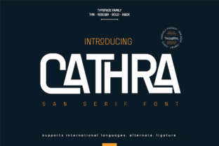 Print on Demand: Cathra Sans Serif Font By twinletter