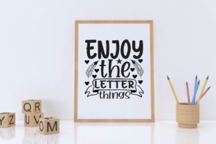 Enjoy the Letter Things Graphic Print Templates By designstore