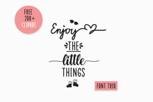 Print on Demand: Enjoy the Little Things Script & Handwritten Font By Fillo Graphic