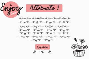 Print on Demand: Enjoy the Little Things Script & Handwritten Font By Fillo Graphic 10